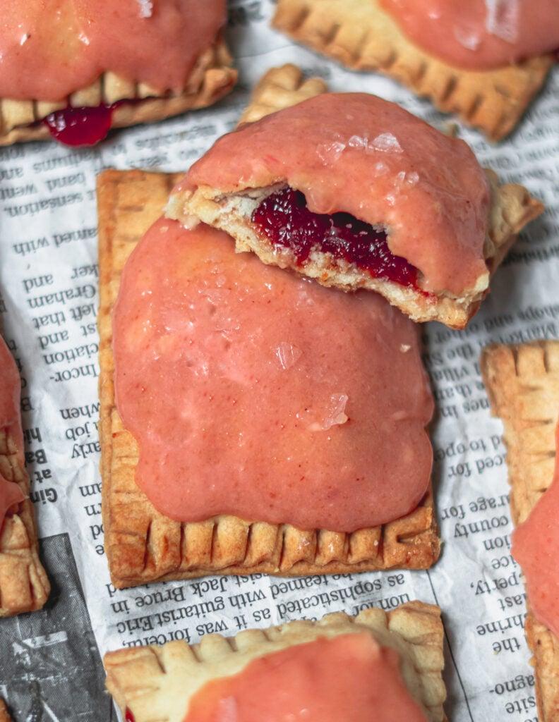Guava Poptarts with Guava Cream Cheese Glaze