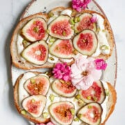 Whipped Ricotta Toast with Figs and Edible Flowers