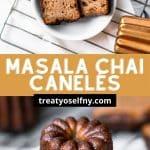 Masala Chai Canelés Pinterest Image