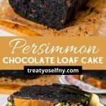 Persimmon Chocolate Loaf Cake Pinterest