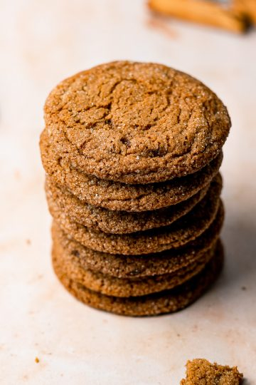 Jaggery Gingersnap Cookies Stacked