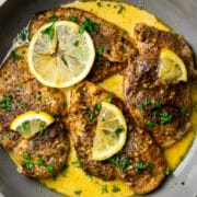 Creamy Garam Masala Lemon Butter Chicken in Pan