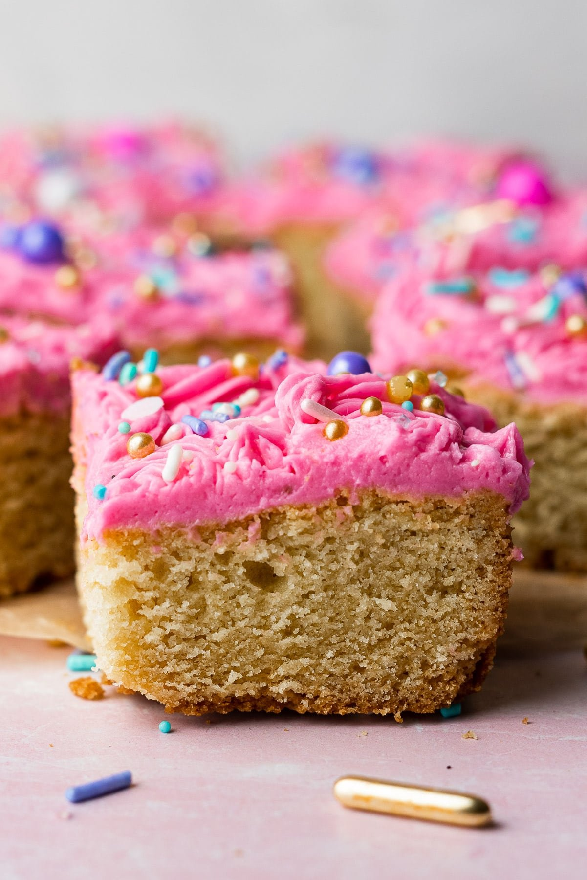 close up of a sugar cookie bar