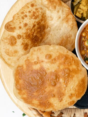 two fried bhature