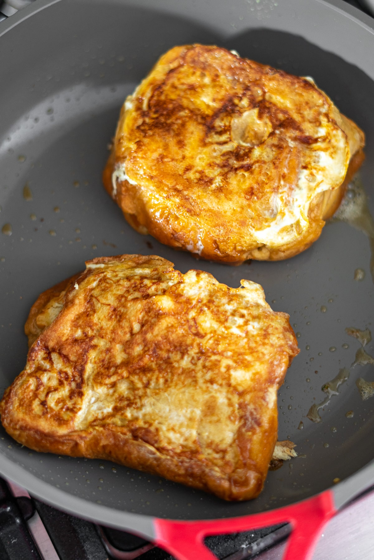 pan fried two brioche french toast